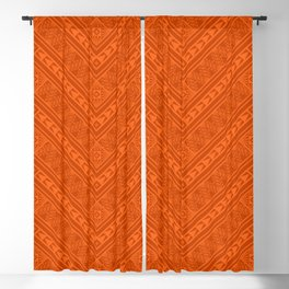 Tipi's (Orange) Blackout Curtain