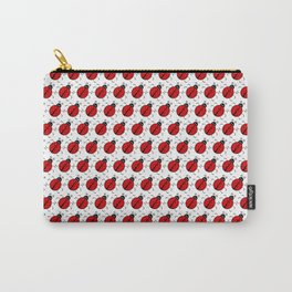 Ladybugs Pattern-White Carry-All Pouch