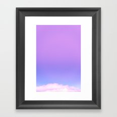 Fade to Blue -  Sunset colors from the Hoh Rain forest Pink Purple Blue Sky Framed Art Print