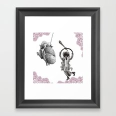 Your heart is my pinata! Framed Art Print