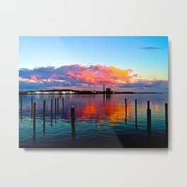 Long Wharf Metal Print