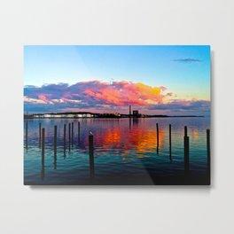 Long Wharf Metal Print