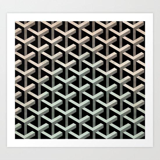 mesh cubes Art Print