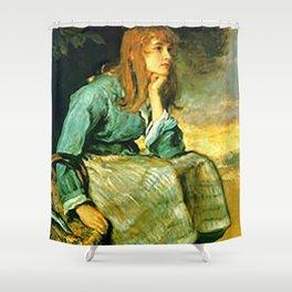 Call Her In - J. Everett Millais Shower Curtain