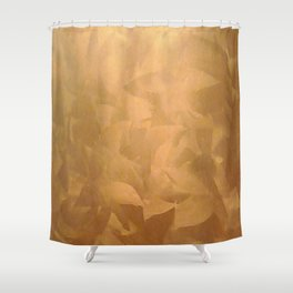 Brushed Copper Metallic - Beautiful - Rustic Glam - Fancy Faux Finishes - Metallic Paint Shower Curtain