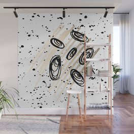 The Visitors - Black White and Gold Wall Mural