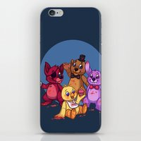 fnaf iPhone & iPod Skins featuring Five Nights at Freddy's by Emm Gee Art