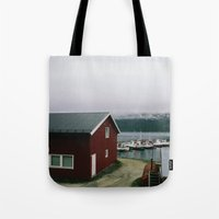 boats Tote Bags featuring Boats by A. Serdyuk