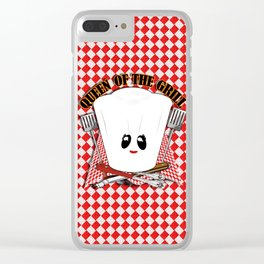 Queen of the Grill Clear iPhone Case