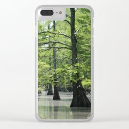 Cypress Trees in the Louisiana Swamp Clear iPhone Case