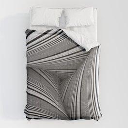 70's Black And White Craziness Comforters