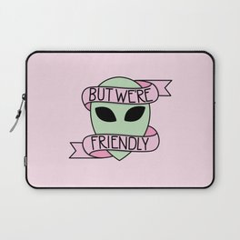 We Are Friendly (Pink) Laptop Sleeve