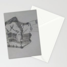 A peace sign hand gesture Stationery Cards