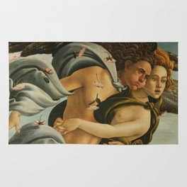 "Sandro Botticelli ""The Birth of Venus"" 3. Zephyr and his companion Rug"