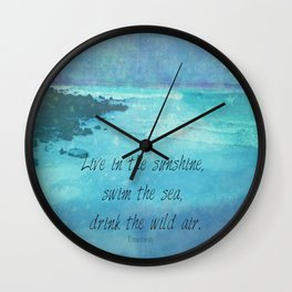 Sunshine quote sea Emerson inspirational Wall Clock