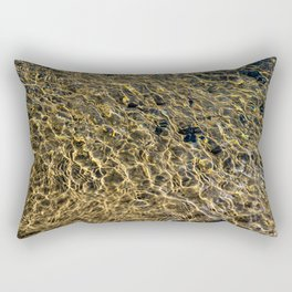 Gold Water Rectangular Pillow