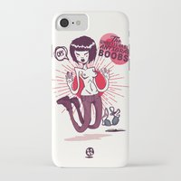 boobs iPhone & iPod Cases featuring The Unbelievable AntGrav Boobs by Thecansone