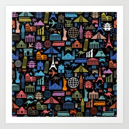 LET'S TRAVEL AROUND THE WORLD!!! Art Print