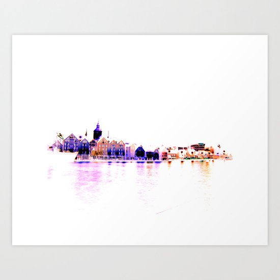 white harbor III. Art Print