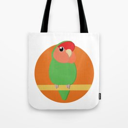 Peach Faced Lovebird Tote Bag