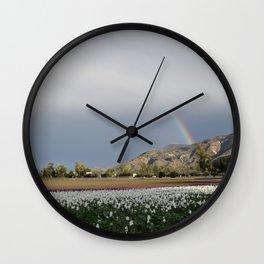 Rainbow South Mountain, Santa Paula California Wall Clock
