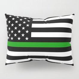 The Thin Green Line Flag Pillow Sham