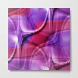 Abstract art pink and purple no. 2 Metal Print