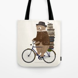 an educated bear Tote Bag
