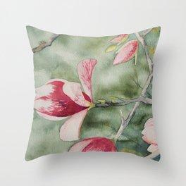 Magnolias of Spring Throw Pillow