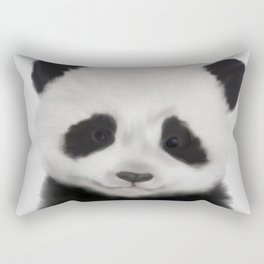 Baby Panda Print, Nursery Animal - Printable Wall Art - Kids Bedroom Poster, Boys Room Decor Rectangular Pillow