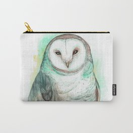 Owl Watercolor painting Carry-All Pouch