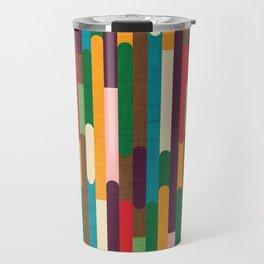 Retro Color Block Popsicle Sticks Travel Mug
