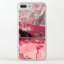 Flamingo Land Clear iPhone Case