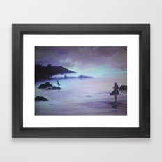 Luce Bay with Child Framed Art Print
