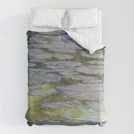 Water Lilies Afloat Comforters
