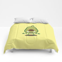 Avocado guacamole guy T-Shirt for all Ages D41j6 Comforters