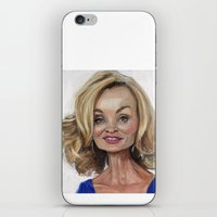 jessica lange iPhone & iPod Skins featuring Jessica Lange by Jared Hobson