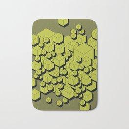 3D Futuristic Cubes V Bath Mat