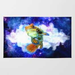 Mandarin Fish with Space Background Rug