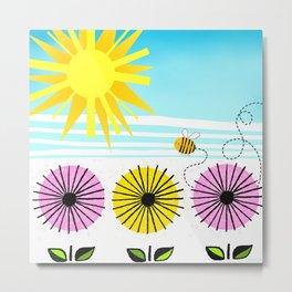 Buzzy As A Bee Metal Print