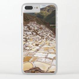 Salina de Maras in Sacred Valley Peru Clear iPhone Case