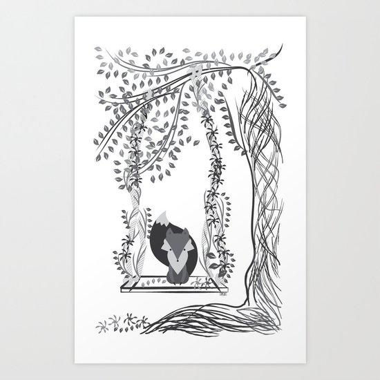 Jungle Fox Art Print
