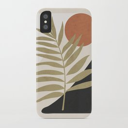 Tropical Leaf- Abstract Art 9 iPhone Case