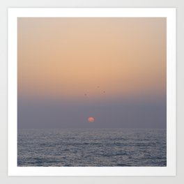African Sunset Art Print