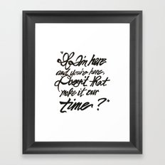 Our Time Framed Art Print
