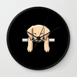 Cute Labrador dog puppy retro gift Wall Clock