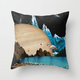 Flamingo Land Throw Pillow