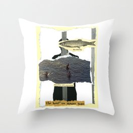 Smoothly With Expression Throw Pillow