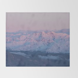 Perfect sunrise in South Tyrol - Landscape and Nature Photography Throw Blanket