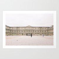 Sometimes People Annoy Me Feat. Louvre courtyard, Paris Art Print